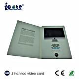 Preço de fábrica! para o folheto video do cumprimento do LCD de 5 polegadas/o anúncio do folheto video/cartão video do negócio