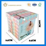 Envases de papel Kraft Caja de regalo (Chocolate caramelo de algodón con asa)