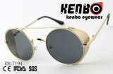 Os óculos de sol com a barra superior e a peça de metal Km17194