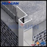 El borde recto mosaico de aluminio revestido de azulejos de cerámica