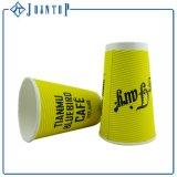 Impresos personalizados de papel de doble pared tazas de café con tapas
