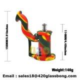 China-Hersteller-Qualitäts-leitet rauchendes Zubehör-Silikon trockener Kraut-Trinkwasserbrunnen-rauchendes Glaswasser-Rohr