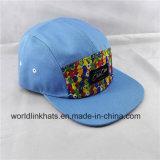 Kundenspezifisches Muster druckte der 5 Panel-Hut-Lager-Schutzkappe mit Änderung- am Objektprogrammkennsatz