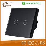 Interruttore sensibile al tocco del regolatore della luminosità di EU/UK 2gang LED per gli indicatori luminosi del LED