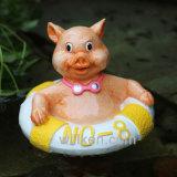 Nuova decorazione sveglia di galleggiamento popolare del giardino del maiale