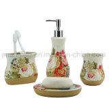 De ceramische Toebehoren van de Badkamers die voor de Sanitaire Waren van het Huishouden worden geplaatst