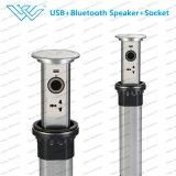 USBのアウトレットおよびBluetoothのスピーカーが付いている電力のソケットがモーターを備えられるオフィス用家具のスマートによって現れる