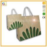 L'impression de logo réutilisent le sac de papier de Papier d'emballage Brown (OEM-GL003)