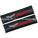 Le carbone de ceinture de sécurité de véhicule de Corvette couvre des garnitures d'épaule