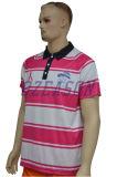 偶然の通気性の印刷の人のスポーツのポロのTシャツ私達サイズ