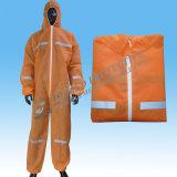 Workwear respirabile non tessuto con il cappuccio ed il coperchio del caricamento del sistema
