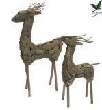 Het houten Decor van Herten voor de Toebehoren van de Tuin met Blond Hout