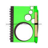 Kraft 종이 펜을%s 가진 다채로운 나선형 소형 노트북