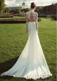 ينظم عرس ثوب كم طويلة [ودّينغ غون] زفافيّ [لد1163]