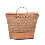 Bolsa do desenhador do saco da senhora Tote do tipo da palha da forma
