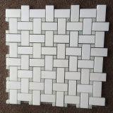 De Marmeren Tegel van de Muur van het Kristal van het Ontwerp van de Steen van het Mozaïek van Basketweave