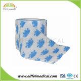 Fabricado na China Médico Veterinário Self-Adhesive elástica bandagem Coeso