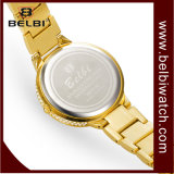 De Legering van de Kleding van het Polshorloge van de Vrouwen van de Diamant van de Luipaard van de Luxe van Belbi Dame Watch