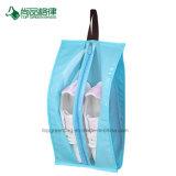 安いカスタム卸し売り昇進の非編まれた多機能のジッパーの終わりの靴ハング袋旅行目に見える構成袋の靴の袋