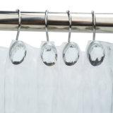 Ami di cristallo ovali dell'acquazzone della decorazione di disegno per stanza da bagno domestica/dell'hotel