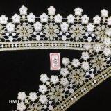 il tessuto del merletto del Organza di 9cm, cerchio fiorisce il ricamo, merletto di cerimonia nuziale di disegno di modo fornisce Hme884