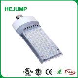 Fiche mâle horizontale dans le maïs de lumière à LED pour éclairage de rue de rafles