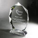 La moda de Grabado personalizado cubos de vidrio en blanco básico Premios trofeo de cristal