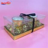 Goldgalvanisierenweihnachtsgesetzte Glasglas-Kerzen für Geschenke
