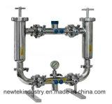 Санитарный фильтр молока молокозавода с нержавеющей сталью манометра диафрагмы