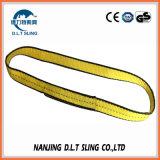 3100lbs de gele Slingers van het Web van de Vouw E&E van de Polyester Enige