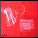 フランジが付いている明確な水晶ガラスの管