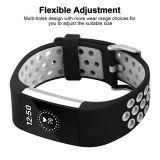 De dubbele Riem van de Band van het Horloge van het Silicone van Kleuren voor Fitbit Last 2