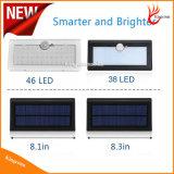 Lampe solaire de jardin en plein air pour le mur du jardin et la rue lumière LED solaire