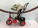 Il fiore a buon mercato gira il triciclo 4 del bambino in 1 bici del bambino