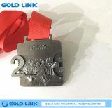 Souvenir fait sur commande de récompense de chemin de médaille de marathon de médaille courante de médaille