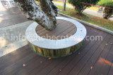 Decking composé en plastique en bois de prix bas gris de couleur