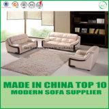 オフィスの木の革ソファーの家具