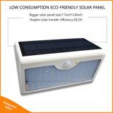 Éclairage actionné solaire extérieur de lampe de détecteur de mouvement des parois de rue de garantie de la lumière 60 DEL de jardin