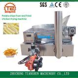 Friggitrice riscaldata gas delle patatine fritte e pollo fritto che friggono macchina