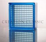 De het blauwe/Gekleurde Blok van het Glas/Baksteen van het Glas voor de Bouw van Glas
