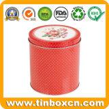 El té redondo del estaño del metal puede para el rectángulo de empaquetado del carrito de té