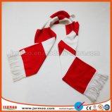 Écharpe bon marché de bonne qualité colorée en gros de la Chine de nécessaires du football