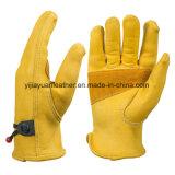 Перчатки безопасности износа предохранения от обеспеченностью кожи Cowhide водителя работы людей работая