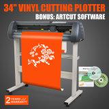 """W/Artcut het Ontwerp van de Software/de Gesneden """" Machines van het Teken van de Snijder van de Machine van Gravure 34 Scherpe Vinyl"""