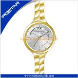 Neueste Uhr-Entwurfs-Edelstahl-Japan-Bewegungs-Quarz-Uhr