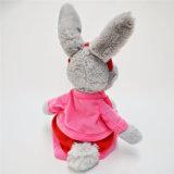 t-셔츠 장난감을%s 가진 새로운 디자인 토끼 연약한 견면 벨벳 주문 동물