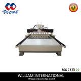 Cabeça de múltiplos gravura CNC rotativa da máquina para materiais de madeira VCT-3512R-6h