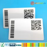 Kundenspezifischer Barcode oder QR Code gedruckte Karte Belüftung-ntag213 NFC
