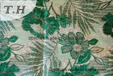 Green polyester Tissus Jacquard (FTH31048)