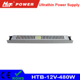 12V 40A 480W ultradünne Stromversorgung für das Bekanntmachen des hellen Kastens